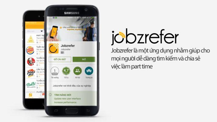 Video quảng cáo ứng dụng di động Jobzrefer