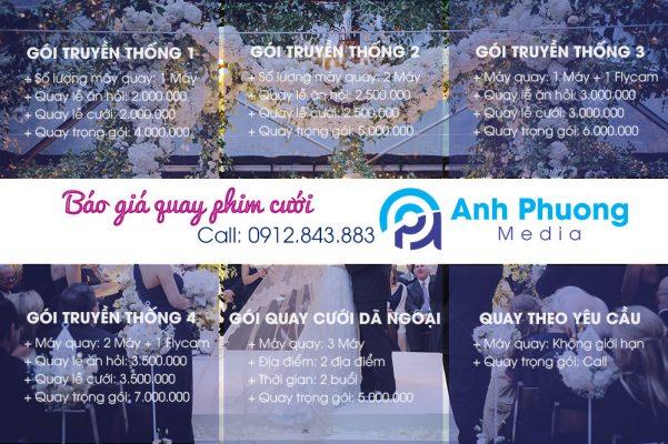 Báo giá quay phim cưới tại Thanh Hóa